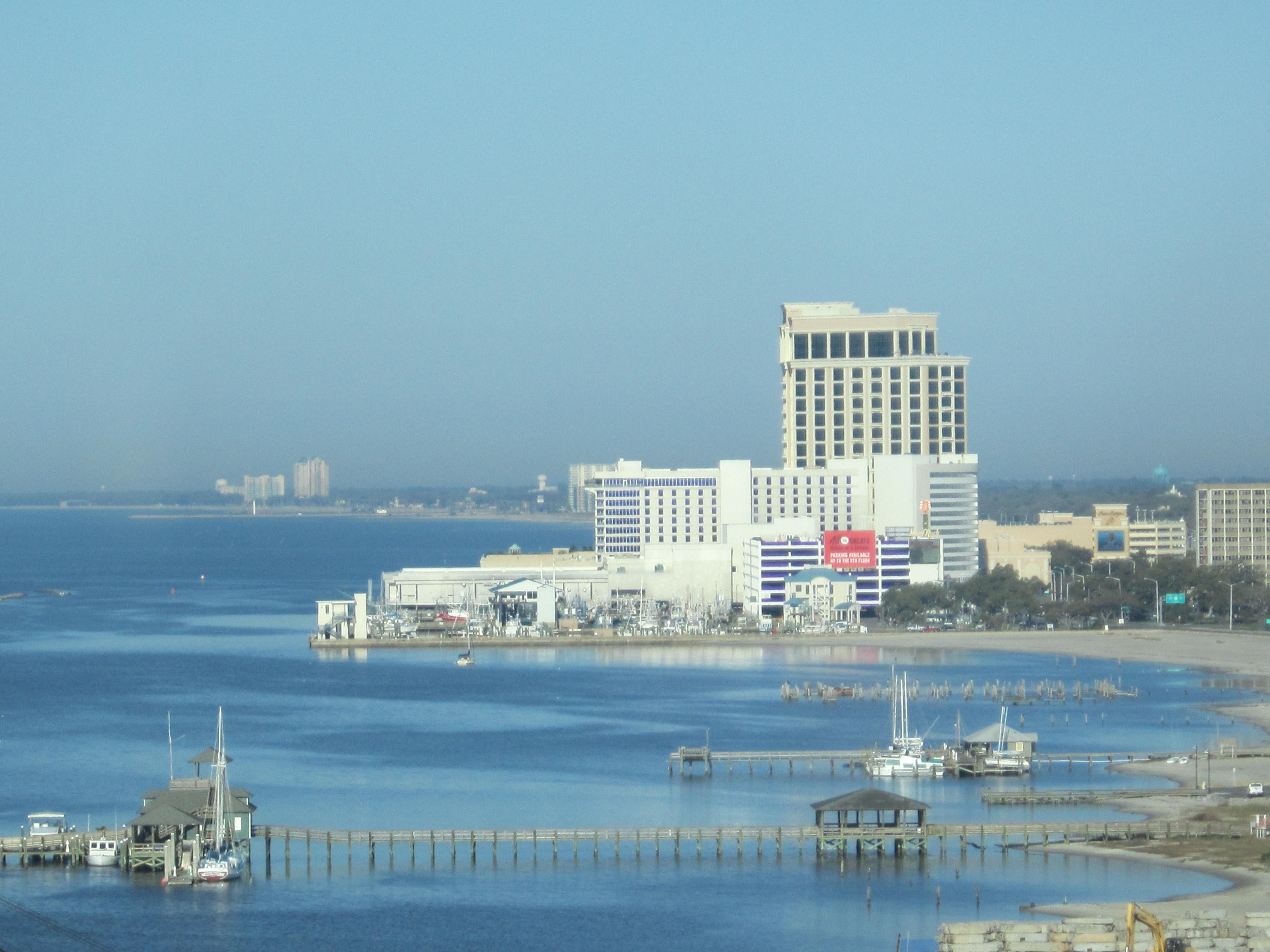 View From The Golden Nugget Casino Hotel Mississippi Gulf Coast