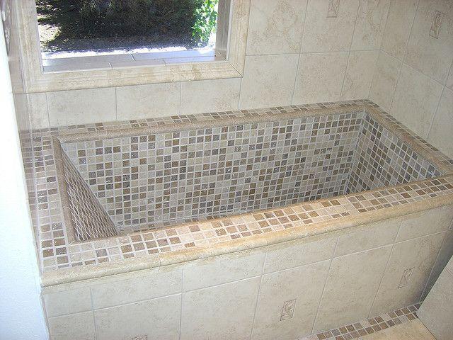 Custom tile Tub | Tubs, Bath and House