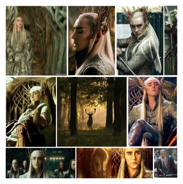 """ElvenKing Thranduil"" by kyliesaysficken ❤ liked on Polyvore featuring art"