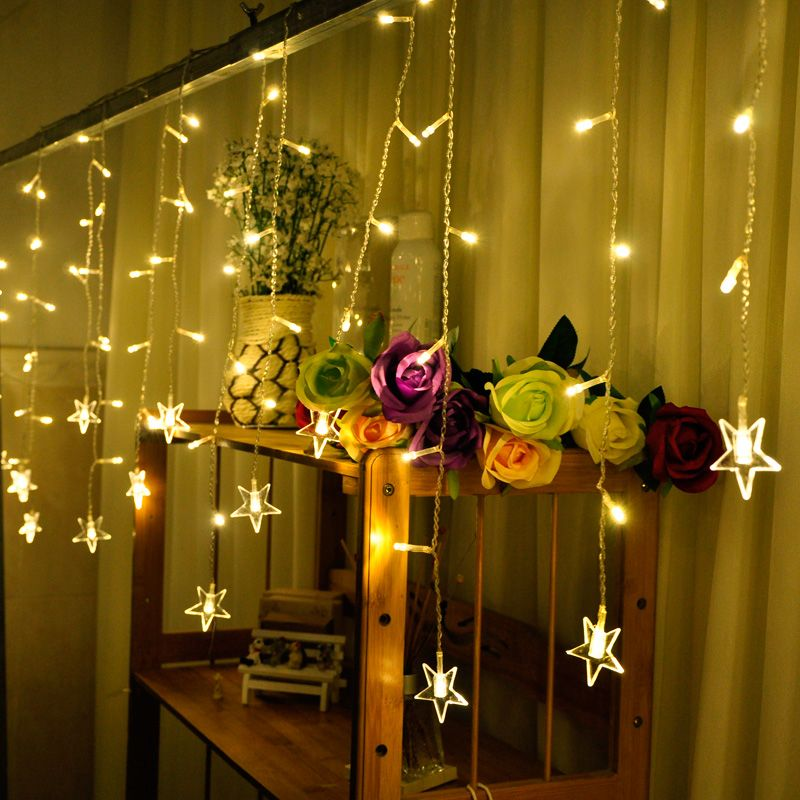 AC LED curtain lights Holiday lighting lamp garland fairy wedding
