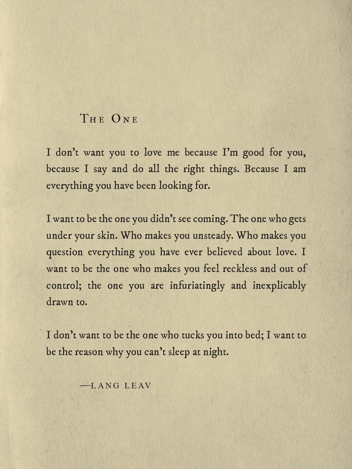 The One Lang Leav Lang Leav Michael Faudet Love Quotes