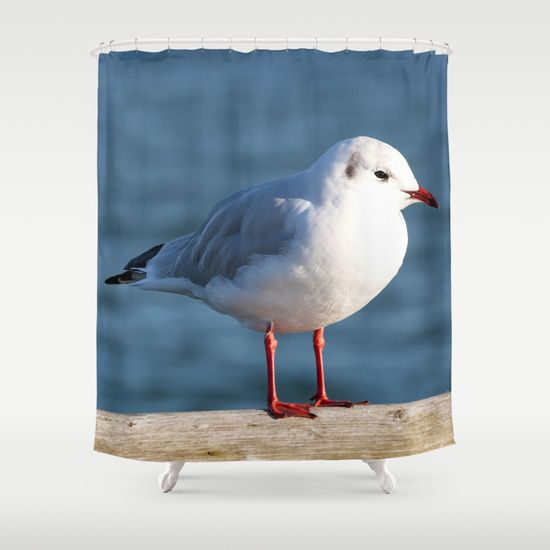 Sea Gull Shower Curtain #posters #artworks #graphic Design #texture # Inspiration #artists #stretched Canvas #illustrations #room #products # Pretty #colour ...