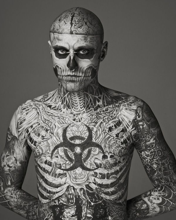 When Zombie Boy Makes His Tattoos Disappear For An Advertisement