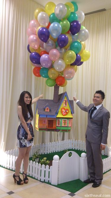 Timothy And Audrey S Up Themed Wedding In Penang Disney Up Up Theme Birthday Party Themes