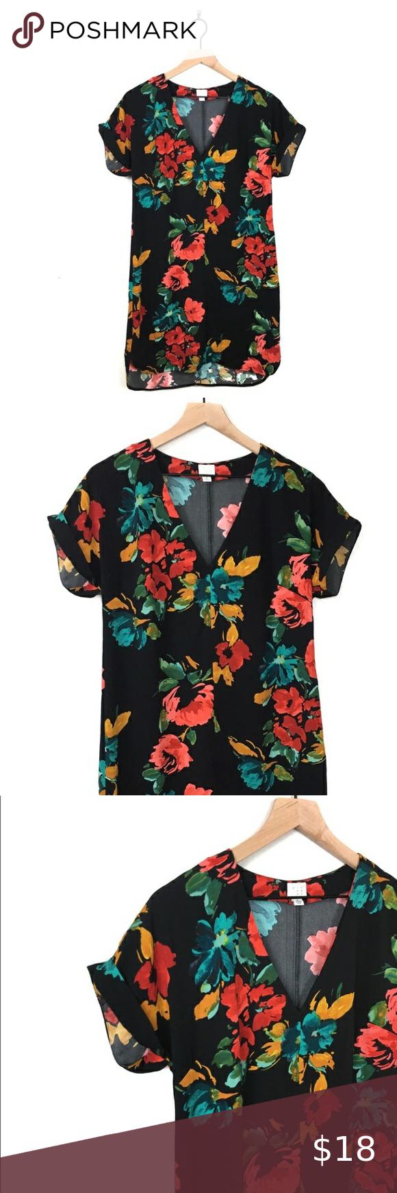 A New Day Target Black Floral Midi Shift Dress A New Day Target Xs Black Floral Dress With Back Butto Black Floral Shirt Midi Shift Dress Floral Shirt Dress [ 1740 x 580 Pixel ]