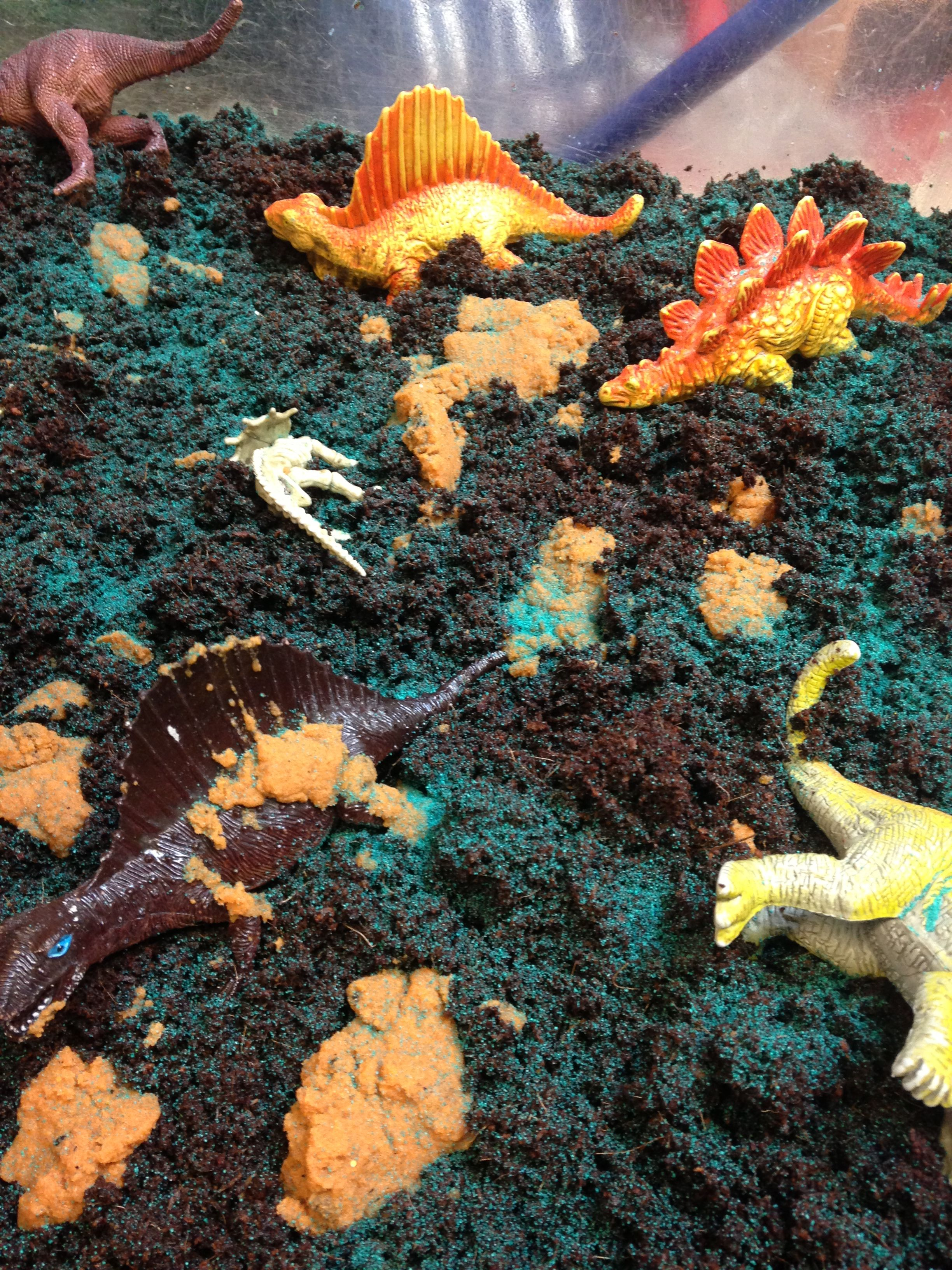 Dinosaur Small World Swamp Soil And Coloured Sand Use