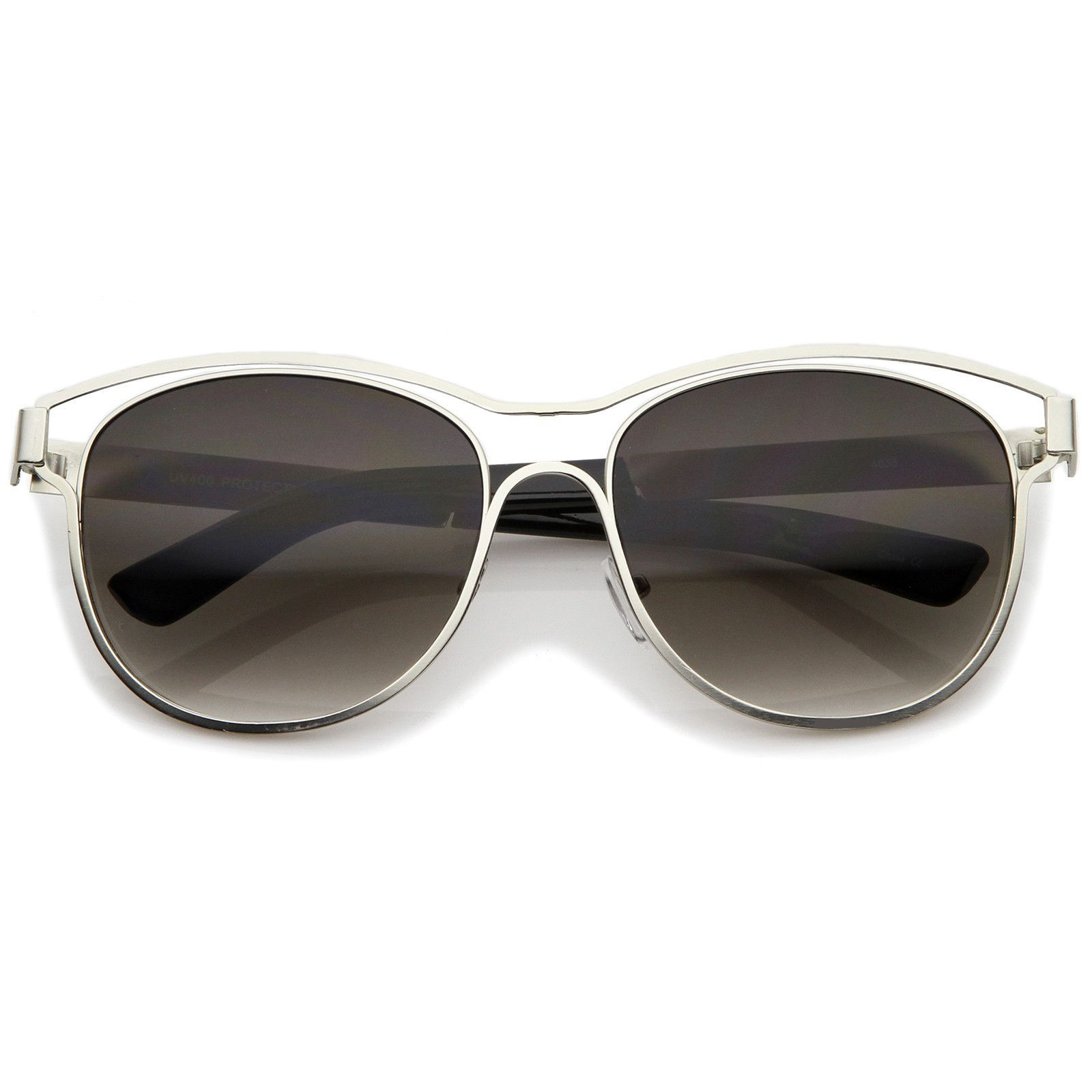 8aaddb8248e Modern Open Metal Brow Square Lens Horn Rimmed Sunglasses 57mm  frame   sunglasses  sunglass  mirrored  oversized  clear  purple  cateye  bold   womens