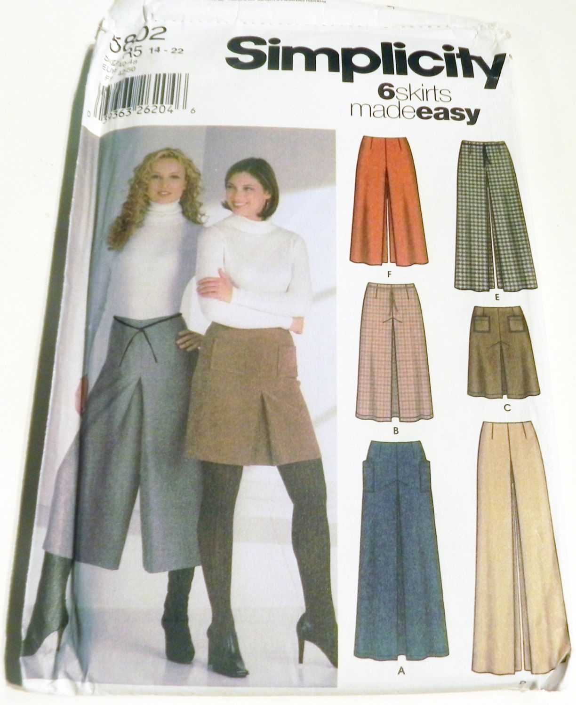 Maxi Skirt Skort Culottes Wide leg palazzo pants Knee length sewing ...