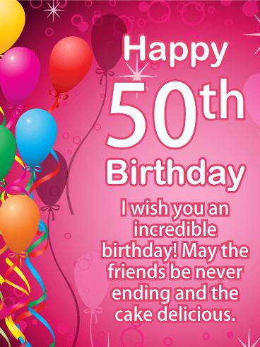 Make Their Spirits Sing With This Heartfelt 50th Birthday Card