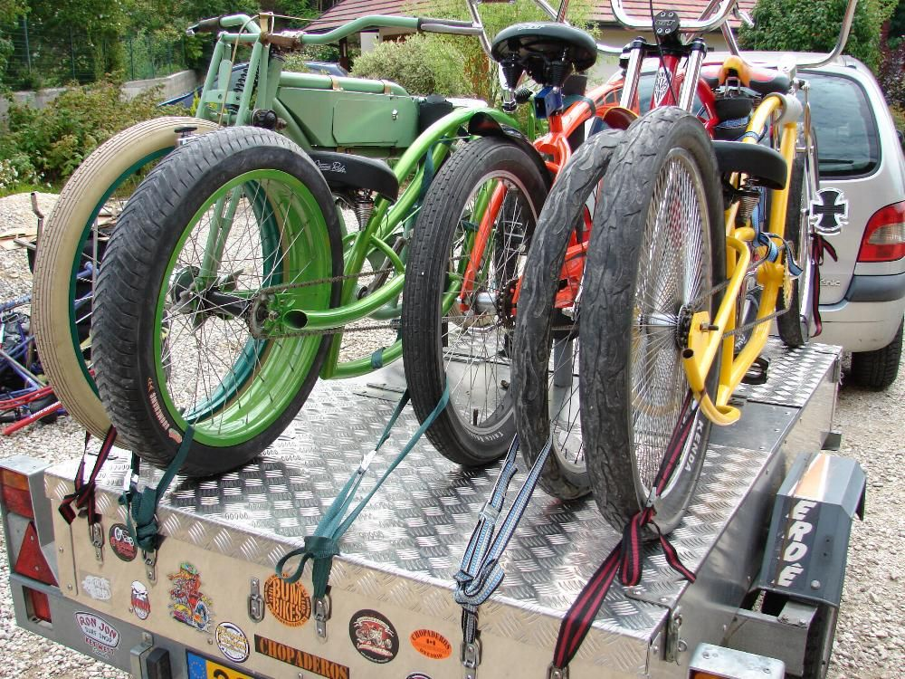 Trailer top bike rack rear tire tie downs | Bike Racks ...