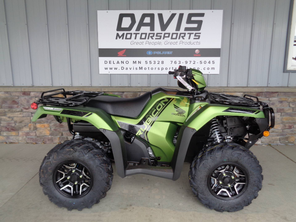 New 2020 Honda Fourtrax Foreman Rubicon 4x4 Automatic Dct Eps Deluxe Atvs In Delano Mn N A Matte Green Metallic Honda Dual Clutch Transmission Honda S
