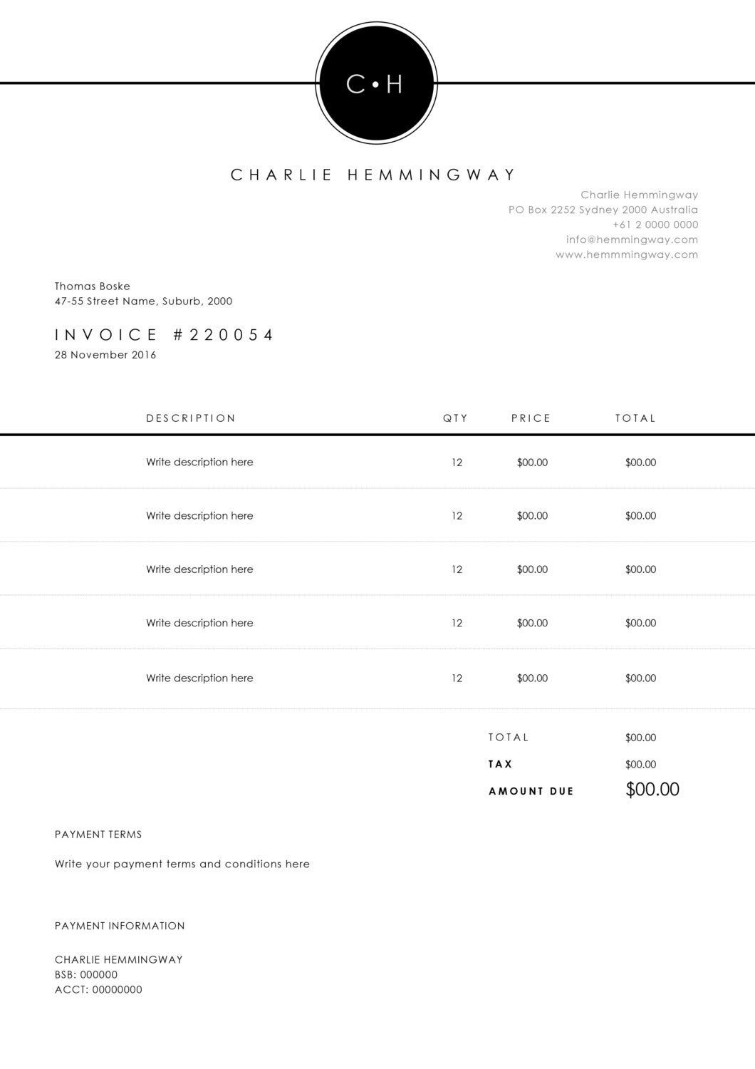 Invoice Template Invoice Design Receipt Ms Word Invoice Template Photoshop Invoice Template Printable Invoice Invoice Design Invoice Template Invoice Layout