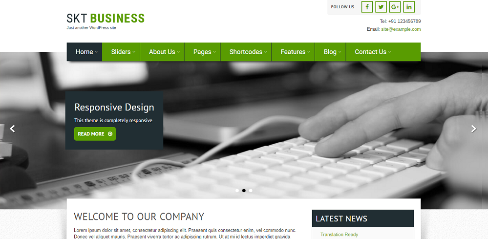 SKT Themes Delivering Business WordPress Theme for Fast and Dynamic ...