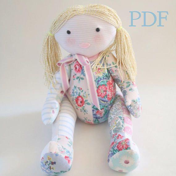 Pdf Memory Doll Sewing Pattern Keepsake Rag Doll Pattern Memory