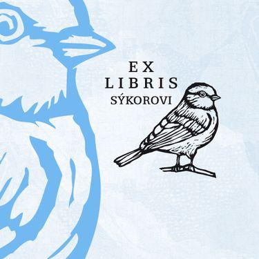 Meise: personalisierter Stempel (EX LIBRIS)