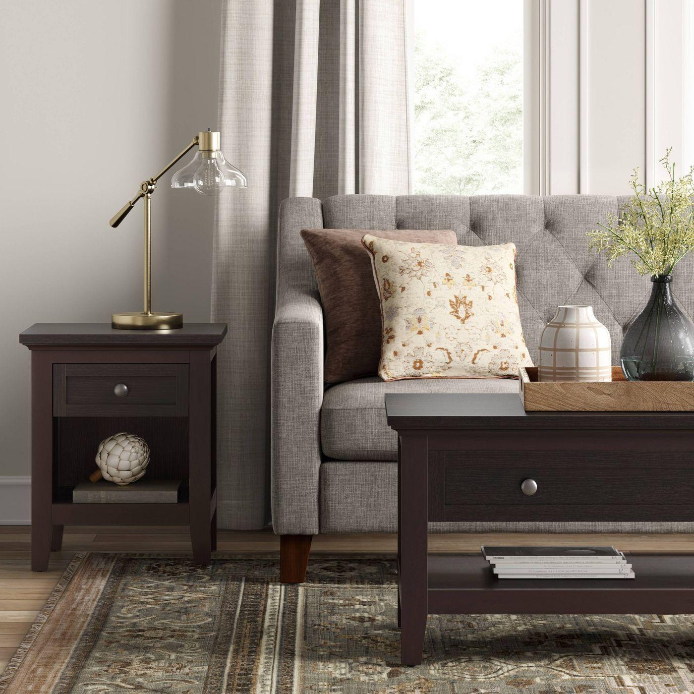 carson coffee table threshold target coffee table on stunning wooden metal coffee table id=28510