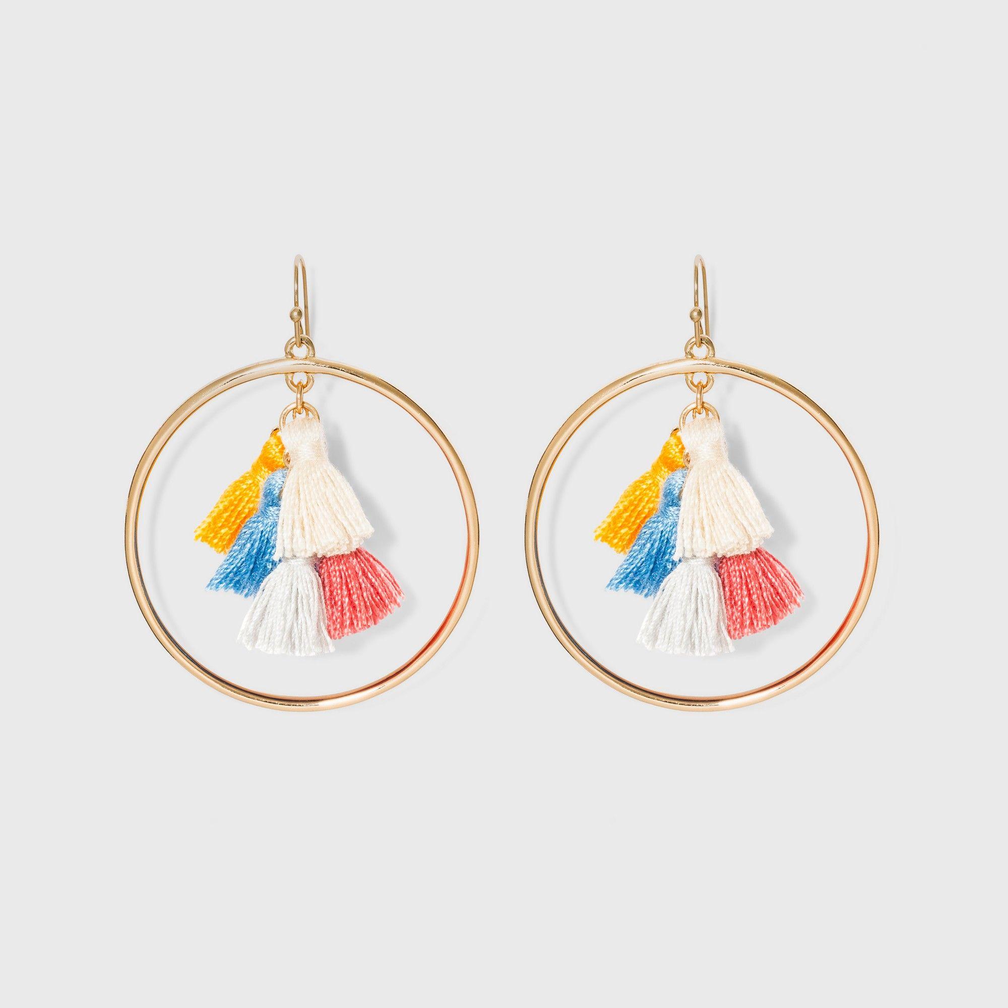 cebe5b1369dc6 SUGARFIX by BaubleBar Multi-Tassel Hoop Earrings, Women's, Size ...
