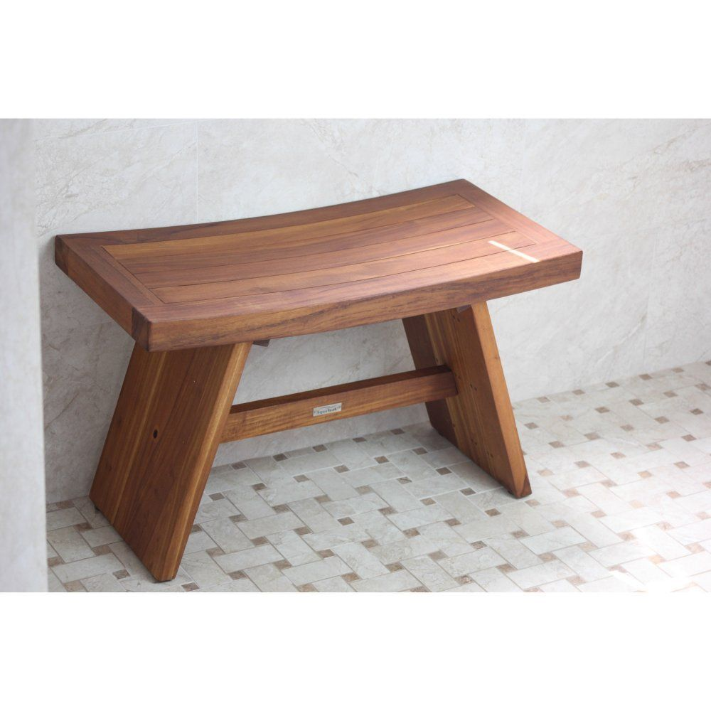 Superb Amazon Com 30 Teak Shower Bench Double Size From The Alphanode Cool Chair Designs And Ideas Alphanodeonline