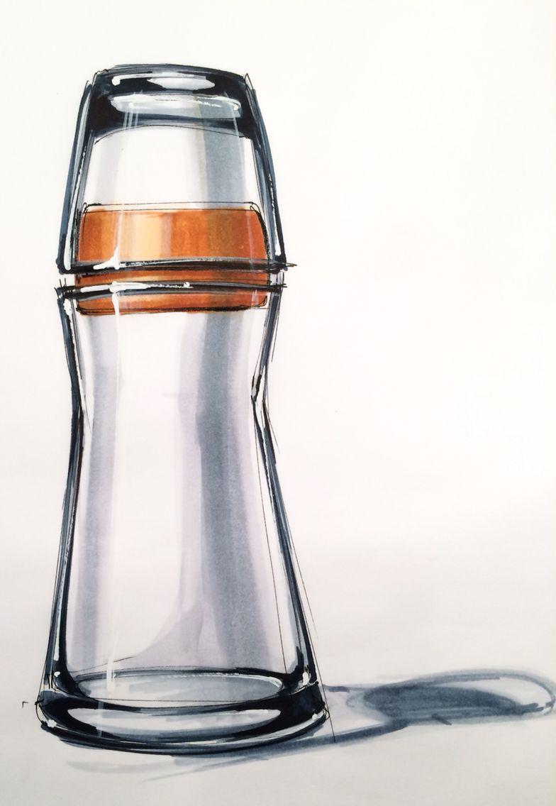 Glass In Markers Industrial Design Sketch Industrial