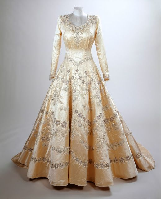 QEII's Wedding Gown By Norman Hartnell. The Royal Order Of