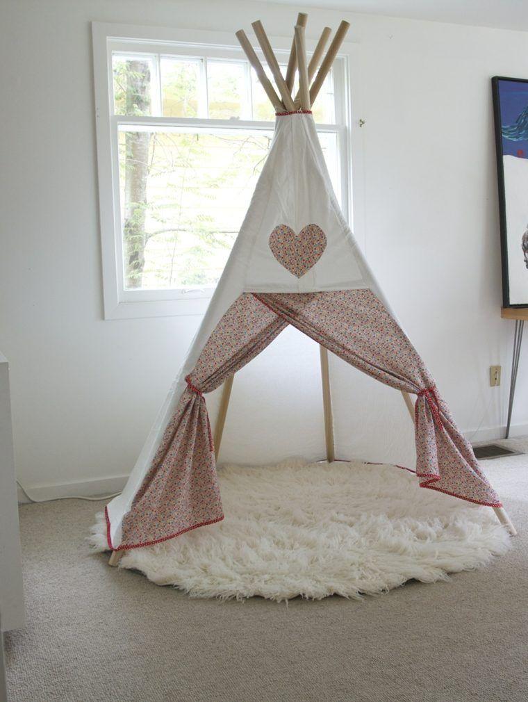20 id es de tipi installer dans la chambre de votre enfant tipi. Black Bedroom Furniture Sets. Home Design Ideas