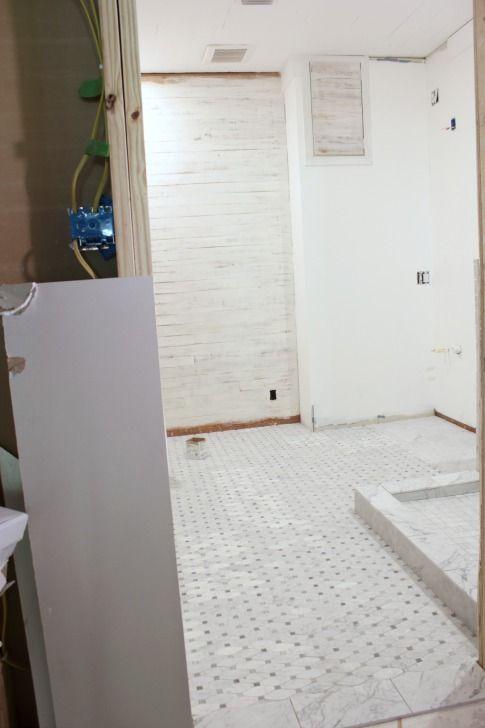 Carrara Honed Long Octagon Gray Dot Marble Tile New Dream