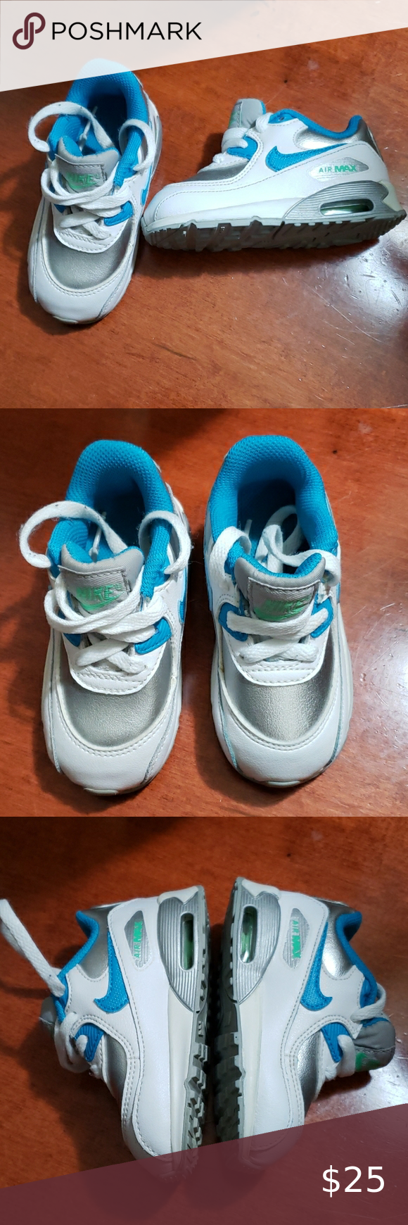 Nike Air Max 90 baby boy shoes size 6C