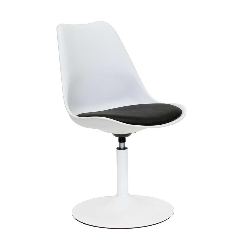 design drehstuhl in wei schwarz gepolstert jetzt bestellen unter - Drehsthle Fr Wohnzimmer Zeitgenssisch