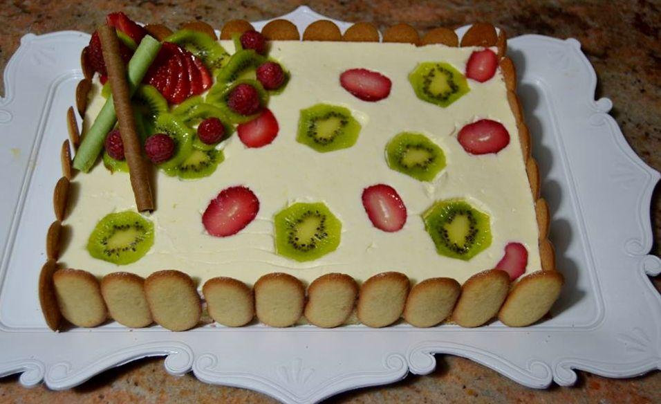 Torta giardino di frutta
