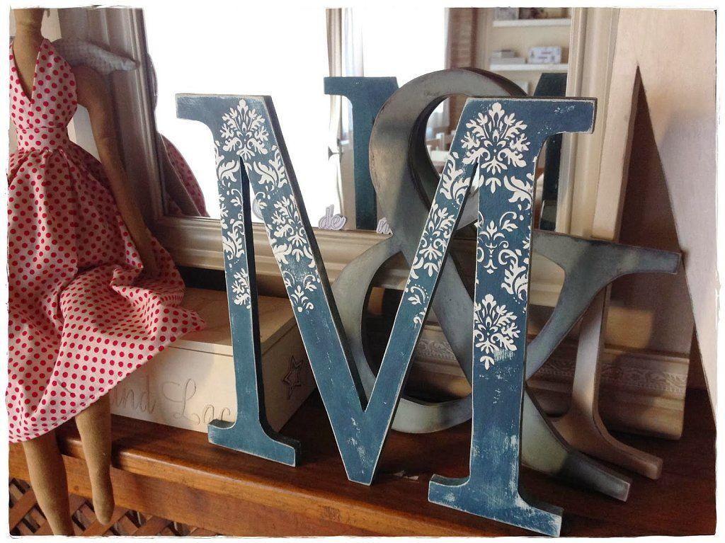 Ideas para tunear letras de madera fabr calas y dec ralas - Ideas para decorar letras de madera ...