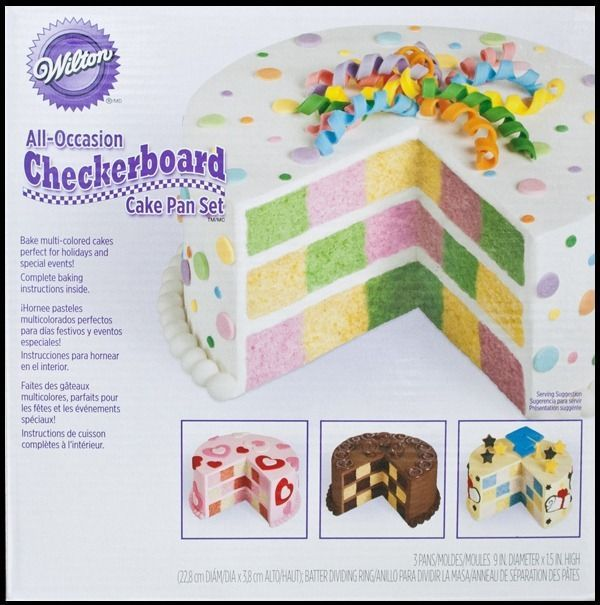 Wilton All Occasion Checkerboard Cake Pan Set Instructions