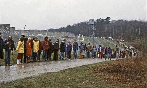 Protesters At Camp Redleg Heilbronn W Germany Pershing Heilbronn Germany