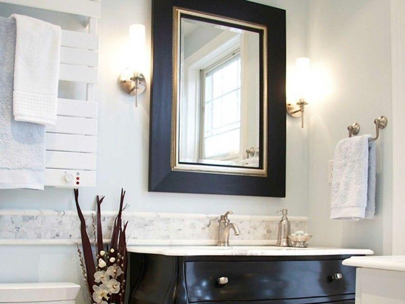 espejo marco negro dorado retro | Interiores para baños | Pinterest ...