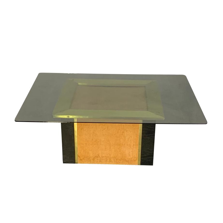 Coffee Table In Brass Black Lacquer And Straw By Vivai Del Sud 1970s In 2021 Coffee Table Table Wood And Metal [ 923 x 923 Pixel ]