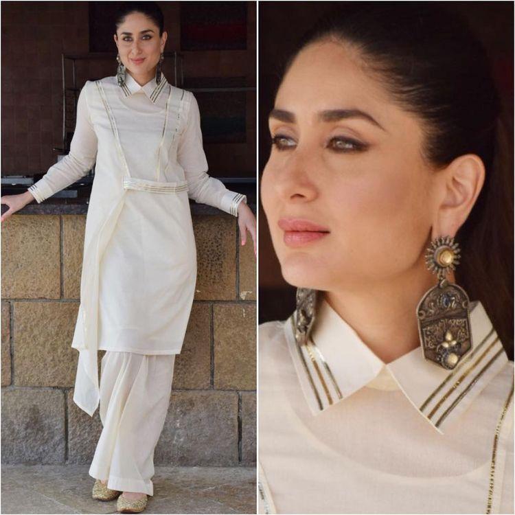 Kareena Kapoor in Collar silk kurti design