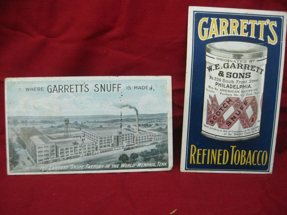 Vintage Pair W E Garrett And Sons Advertising Sweet Mild Snuff 2 Sided Cards Wegarrettsons In 2020 Vintage Front Street Book Cover