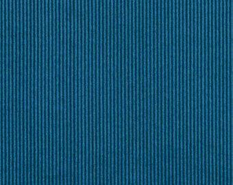 Peacock Blue Textured Velvet Upholstery Fabric Pin Stripe Velvet
