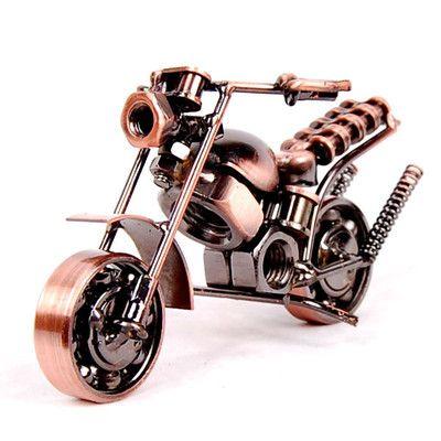 Vintage Metal Art Crafts Gift Decoration Harley Handmade Motorcycle Model Toy Metalen Kunstwerk Metaal Kunstwerk