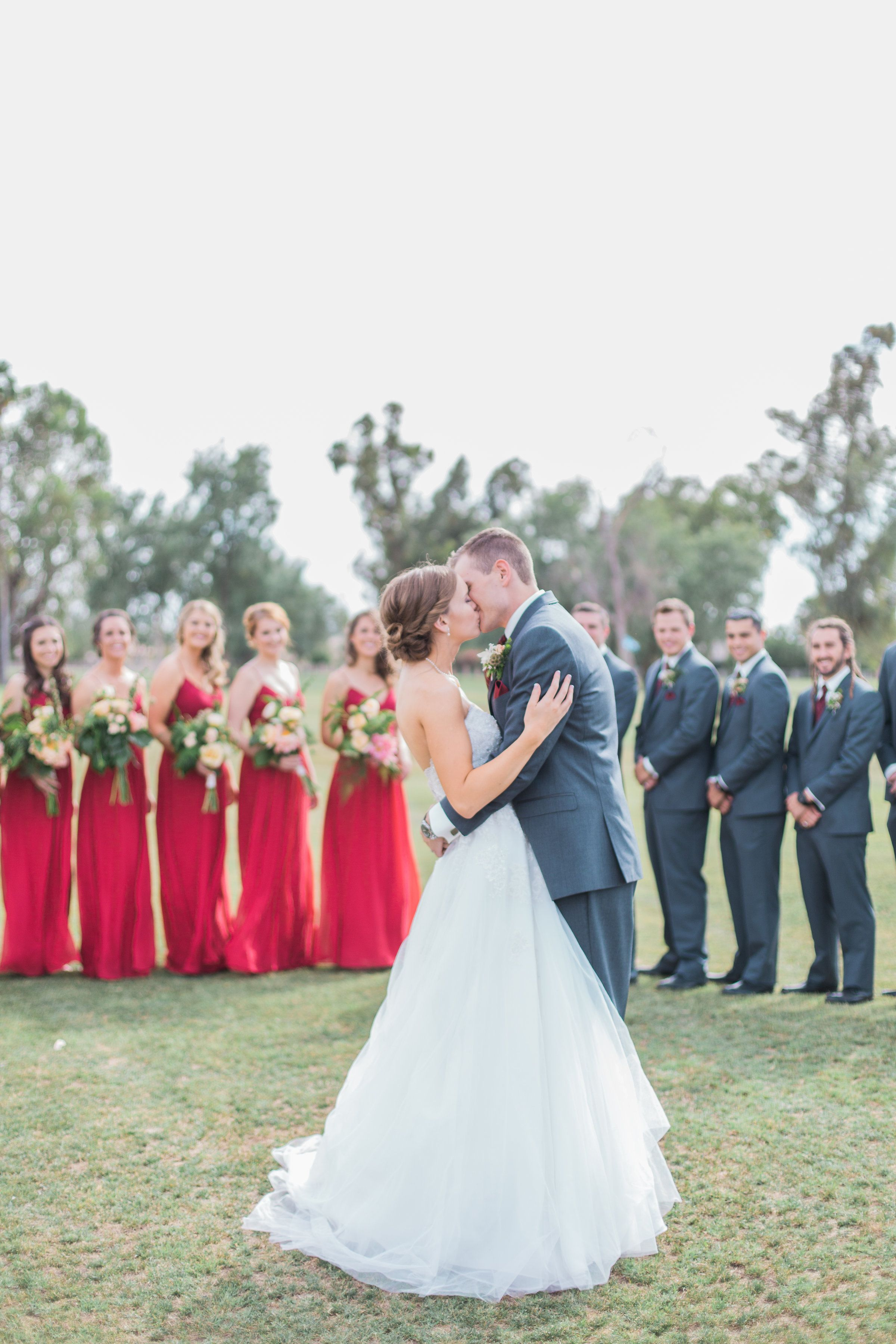 Red dress for wedding reception  Red and Blue bridal party uc mollymcphoto  MuM Photography
