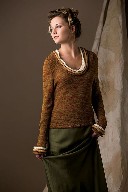 Ravelry: Ring Collar Pullover pattern by Tammy Eigeman Thompson