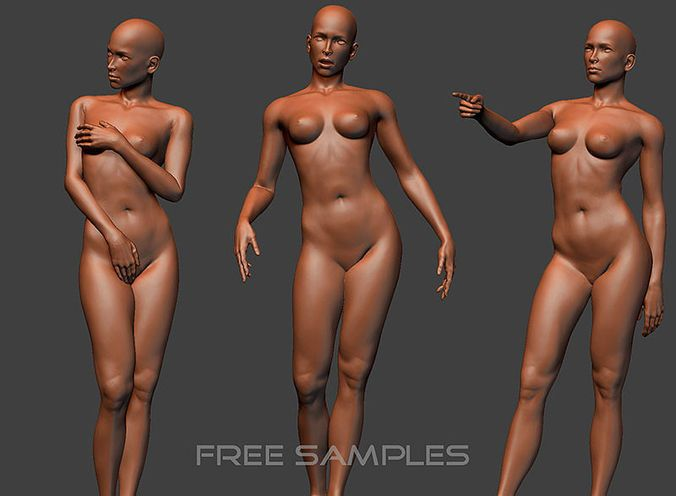 Female Sculptures – free 3D model ready for CG projects. Available formats: OBJ (.obj), 3D Studio Max (.max)
