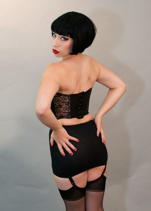724ee604ed Vintage bustier and Silhouete Little X Open Girdle from Brabarella Lingerie