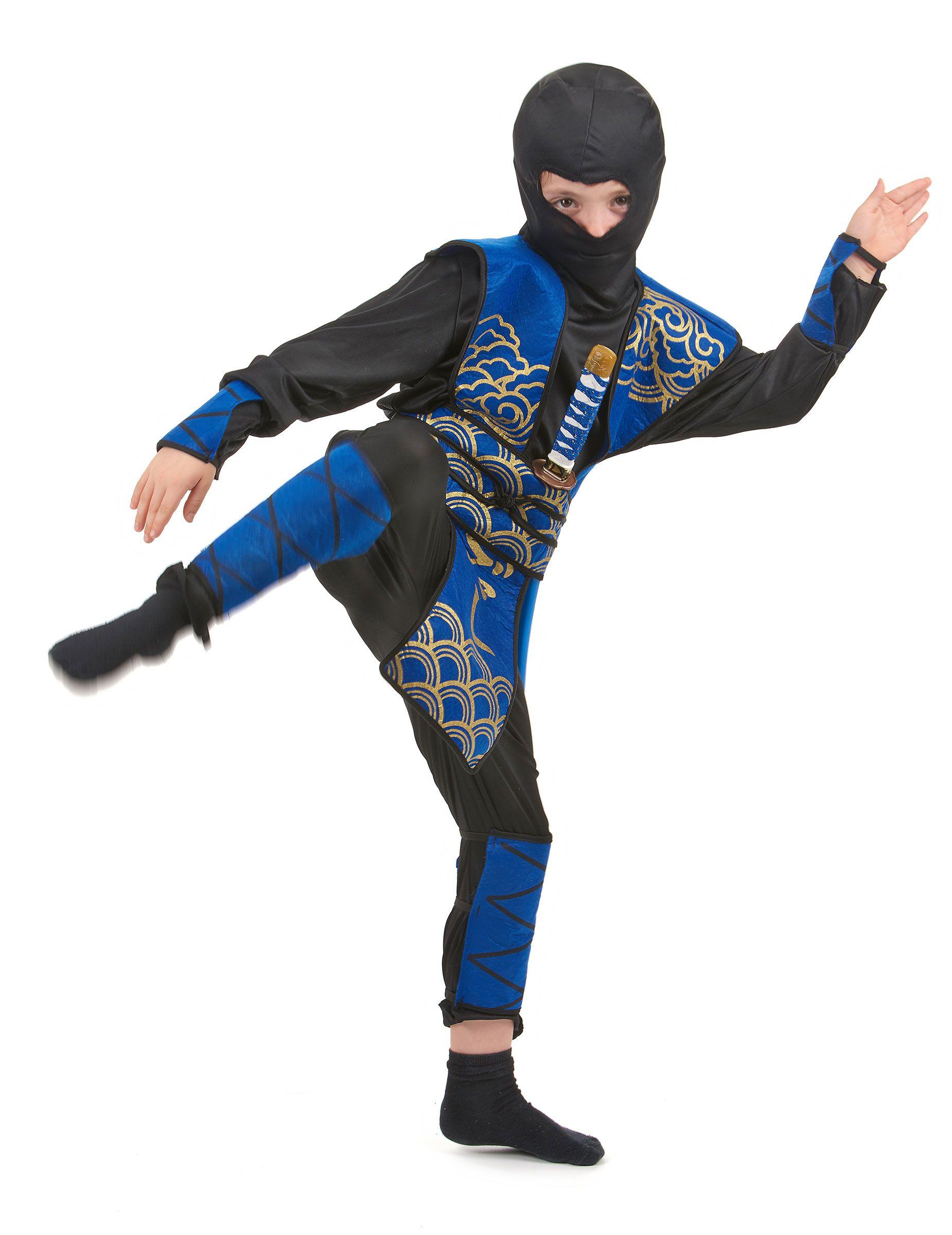 ninja jungen kost m blau schwarz goldfarben kost me. Black Bedroom Furniture Sets. Home Design Ideas