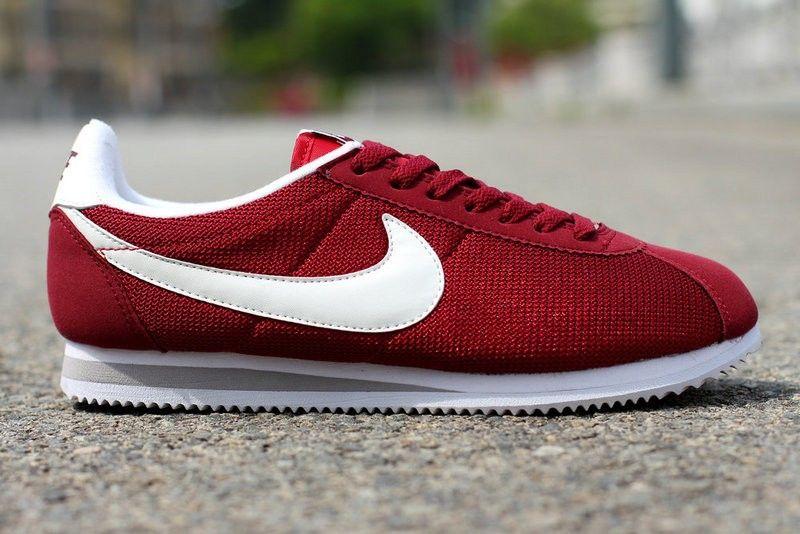 pretty nice f3808 5966e Nike Cortez Nylon Burgundy | Shoes | Nike cortez, Shoes ...