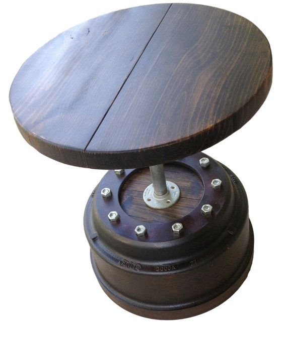 Tractor Brake Drum : Tractor brake drum end table by industrialenvy on etsy