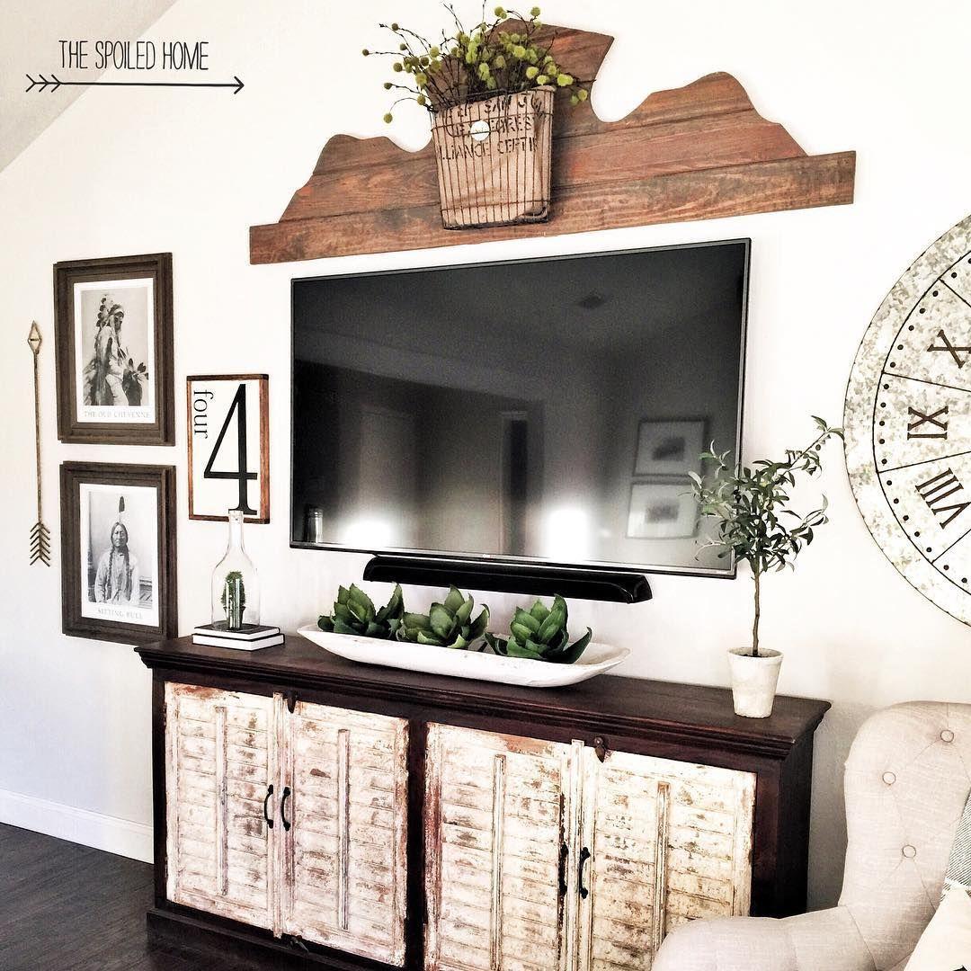 Decorating A Tv Console  Review Home Decor