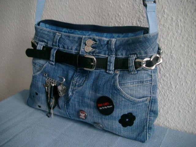recycling jeanstasche von n hwittchen auf jeans jeans tasche anleitung jeans. Black Bedroom Furniture Sets. Home Design Ideas
