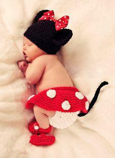 あら、かわいい♡キュートなベビーミニーの出来上がり♪ 出産祝いやお誕生日のお祝いにいかがですか? https://room.rakuten.co.jp/kireikawaii/1700003403607206?scid=we_rom_pinterest_official_20150205_a1