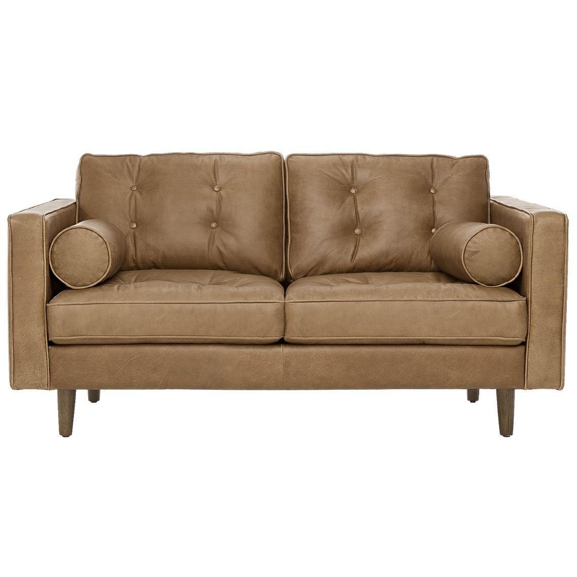Copenhagen 2 Seat Leather Sofa Caramel Leather Sofa Sofa