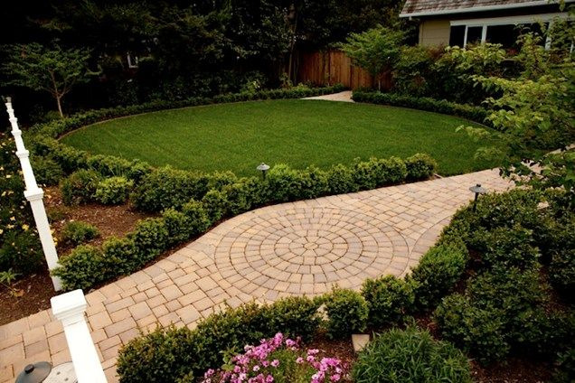 Paver Walkway, Lawn, Drip Irrigation Walkway And Path Aesthetic Gardens Mountain  View, ...